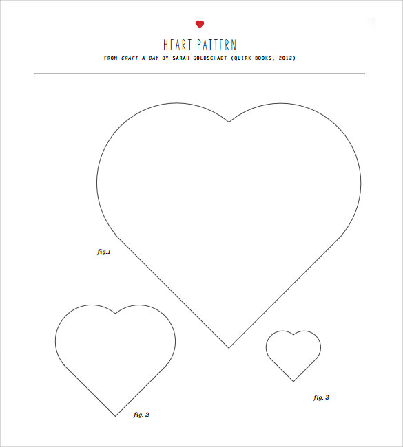 photo relating to Printable Heart Templates titled No cost 13+ Printable Centre Templates in just PDF Phrase PSD