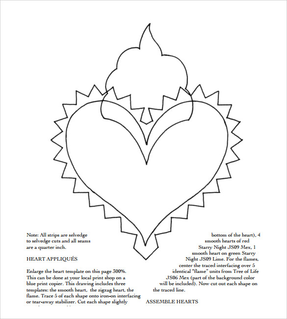 photograph about Printable Hearts Templates known as Cost-free 13+ Printable Middle Templates within just PDF Term PSD