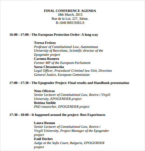 conference agenda format1