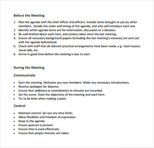 Agenda Sample Meeting Agenda Template 30 46 Effective Meeting – Sample Agenda Planner
