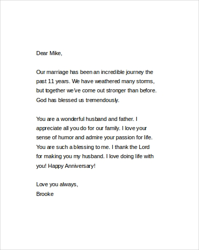 Love Letters To Husband   Free Documents In Word Pdf