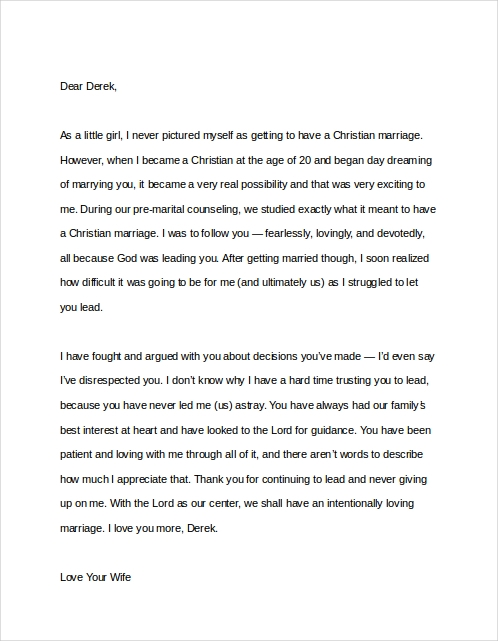 Sample Of Thank You Letter To A Husband