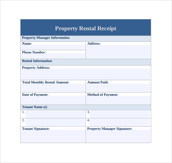 Rent Receipt Template - 13+ Download Free Documents in PDF, Word