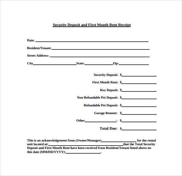 Sample Rent Receipt Template 12 Download Free Documents in PDF – Rent Recipt