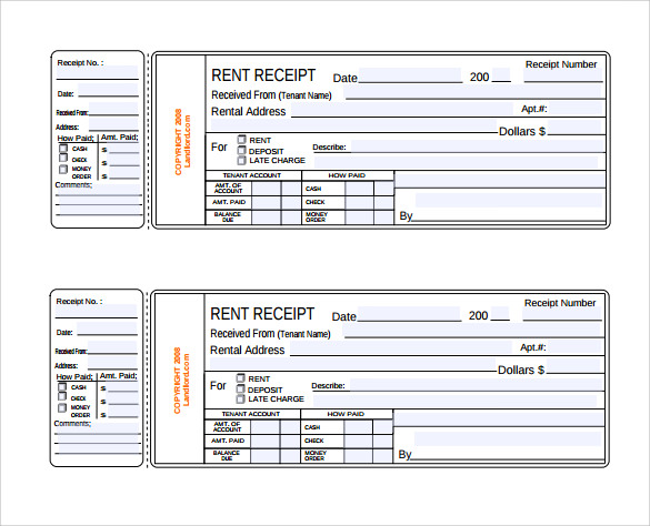 Rent receipt template 13 download free documents in pdf for Free rent receipt template