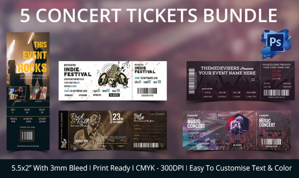 Ticket Template 23 Download Documents in PDF PSD – Printable Event Tickets