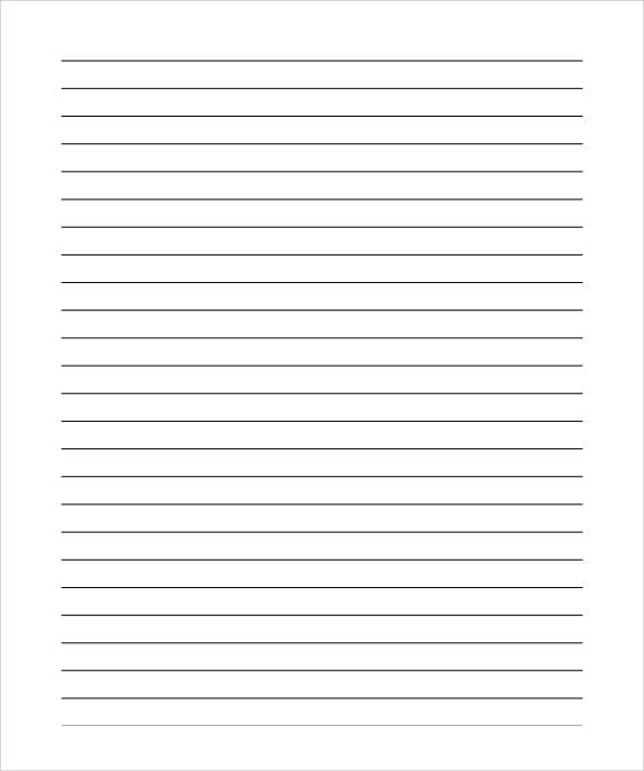 Lined Paper For Essay  Lined Stationary Template
