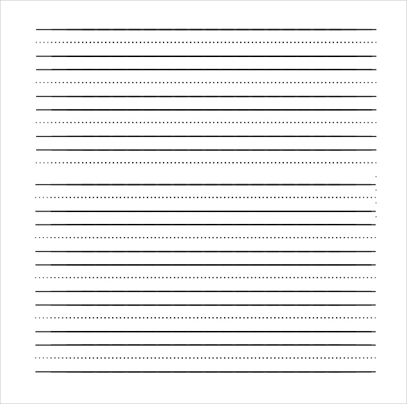 12 lined paper templates pdf doc sample templates for Learning to write paper template