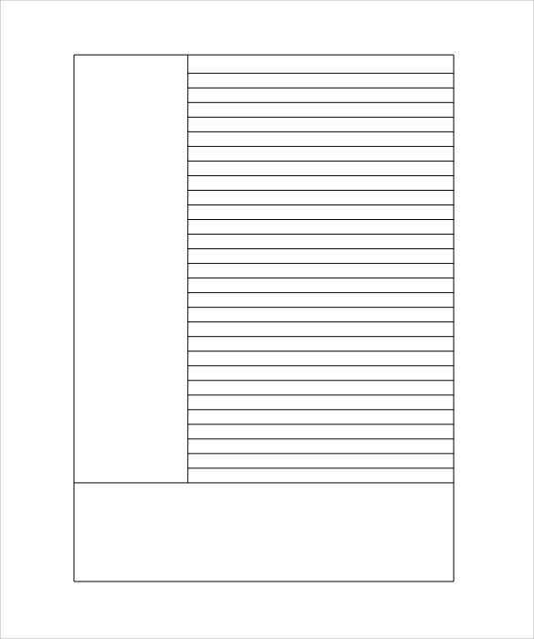 Lined Paper Printable Free – Lined Paper with Drawing Box