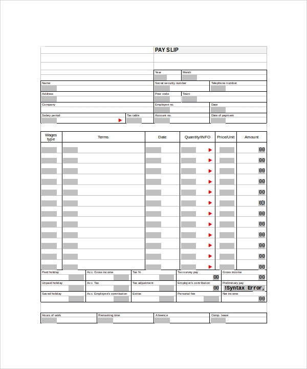 Sample Editable Pay Stub Templates To Download Sample Templates - Free pay stub templates for word