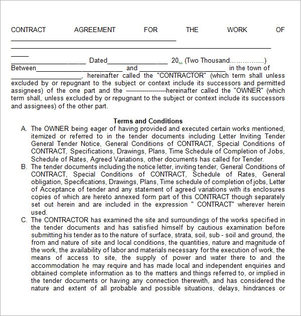 agreement contract template1