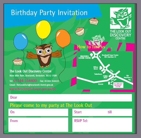 an invitation to birthday party