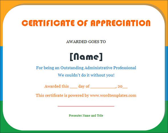 Graduation appreciation certificate images graduation appreciation certificate appreciation certificate appreciation certificate source abuse report yadclub Choice Image