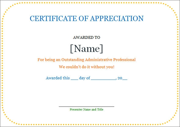 Certificate of appreciation template 27 download in word pdf appreciation template yadclub Choice Image