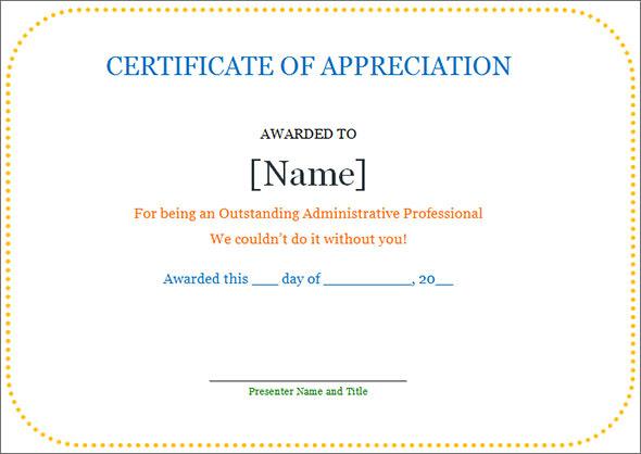 appreciation certificate templates free download .