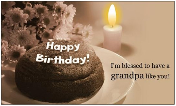 birth day card to grandfather