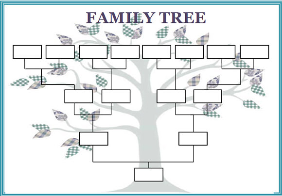 Blank family tree templates blank family tree template or 7 generation bow tie chart pronofoot35fo Gallery
