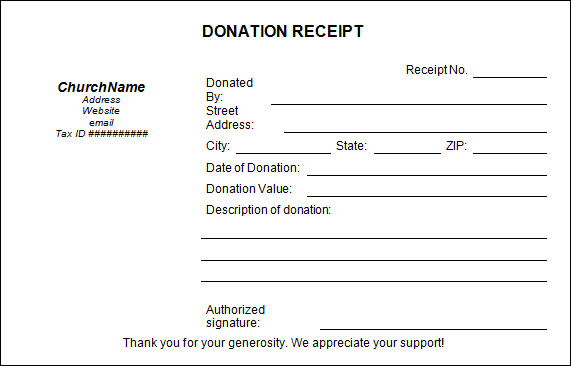 Sample Donation Receipt Template 17 Free Documents in PDF Word – Receipts Templates