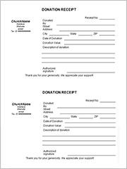 church donation receipt template2