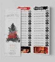 classy bar menu template