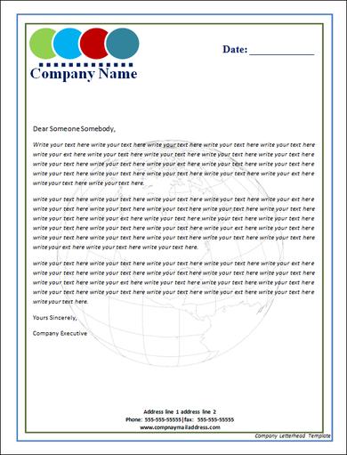 letterhead format word download