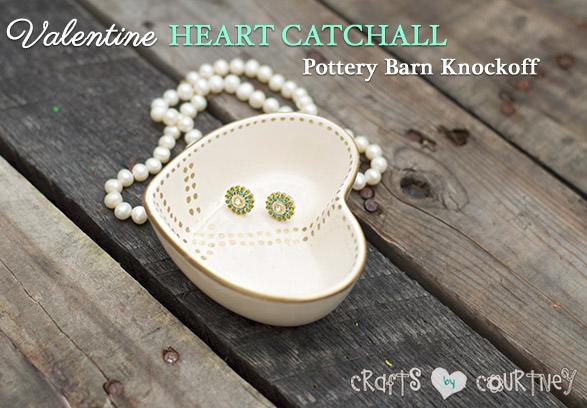 diy valentine heart peace catchall craft
