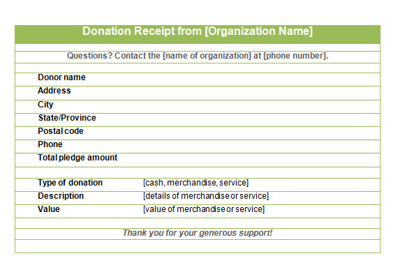 tax receipt template .