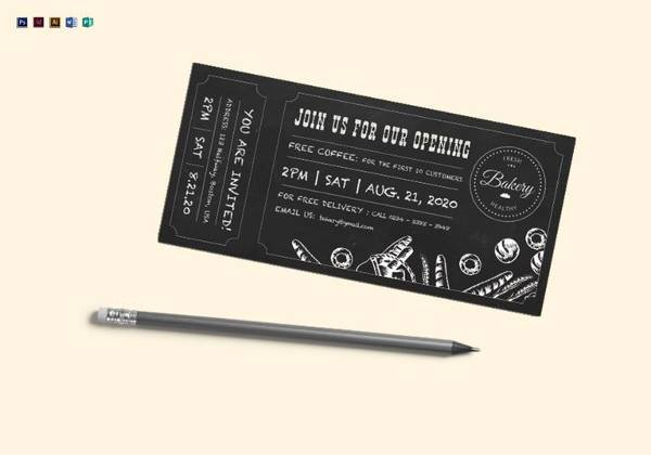 editable chalkboard ticket template
