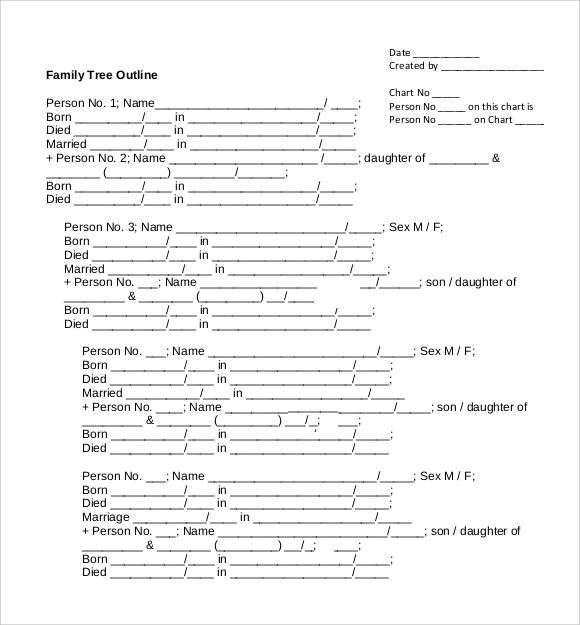 family tree outline