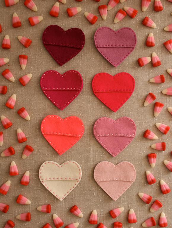 felt candy hearts