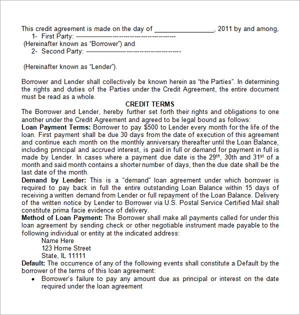 finance contract template1