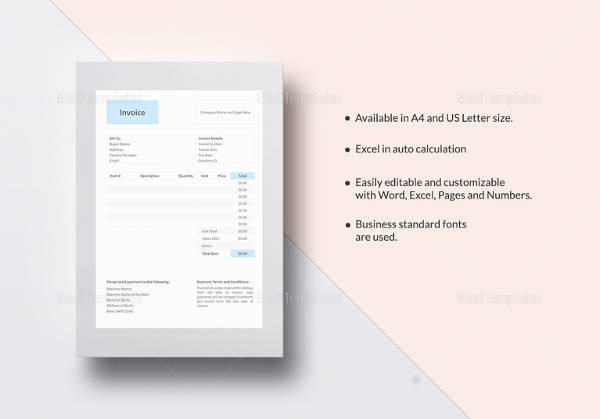 invoice template download word