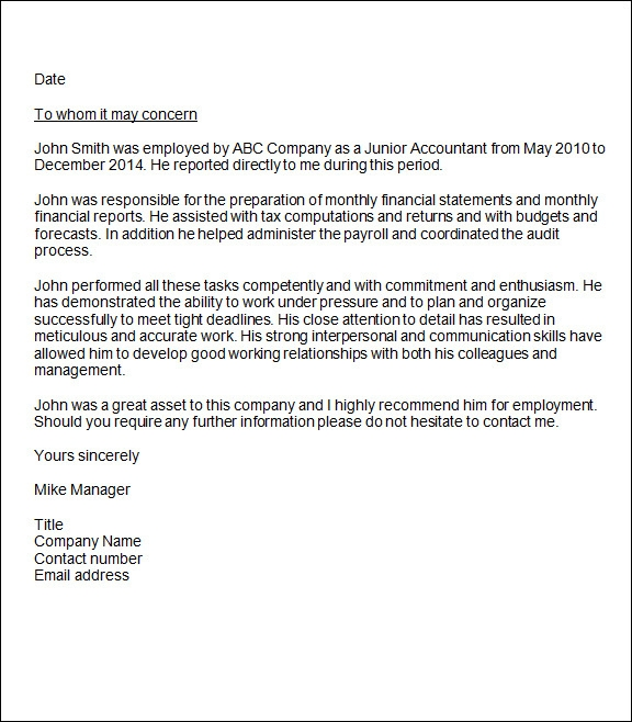 sample recommendation letter template .