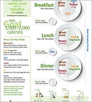 health diet menu template