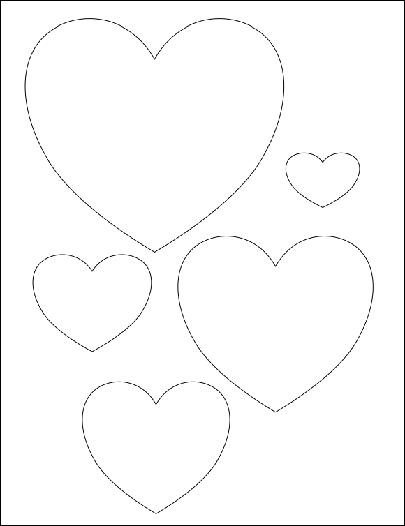 Selective image for free printable heart templates