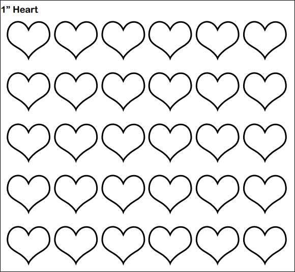 heart template to type in