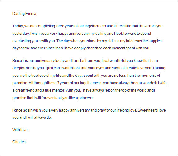 Sample Love Letters To Wife