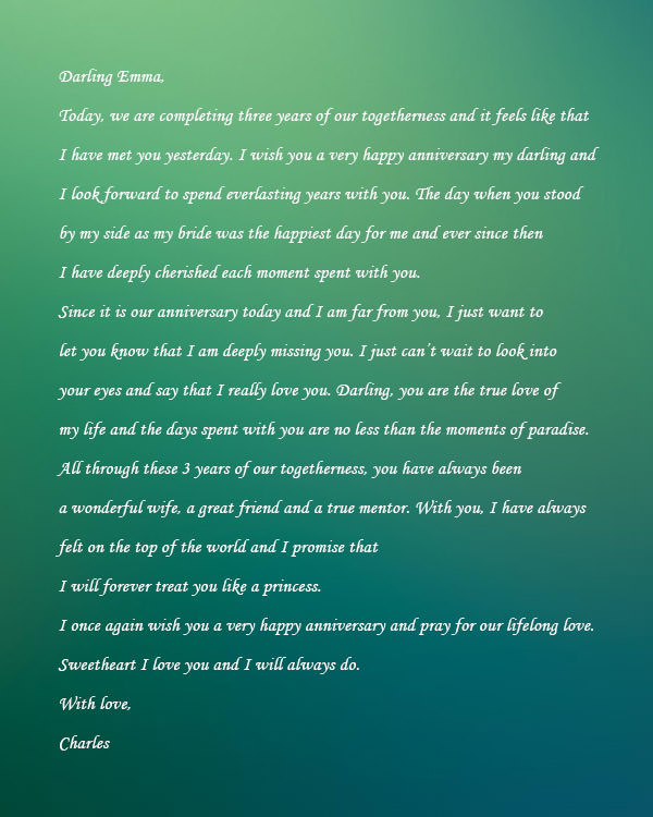 romantic letter to wife love letter to my wife samples