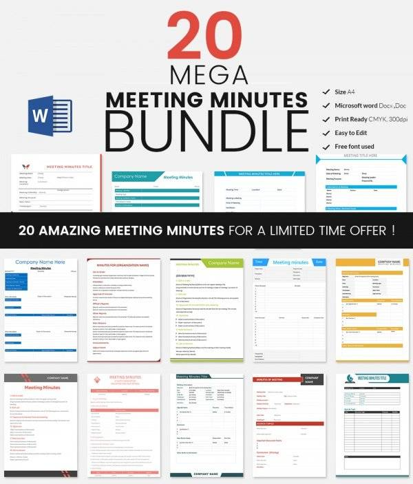 Meeting Minutes Template 28 Download Free Documents in Word – Minutes of Meeting Word Template