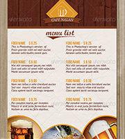 menu cards design restaurant