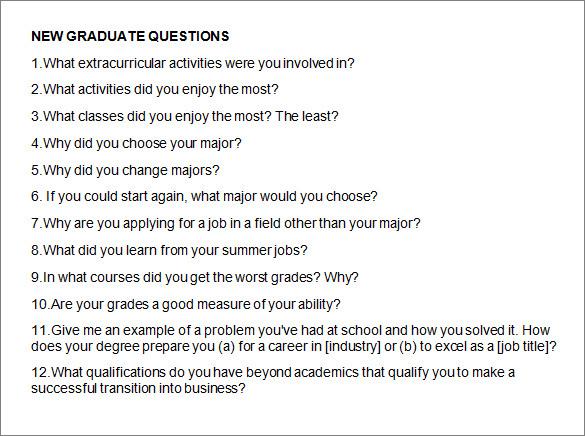 new graduate questions