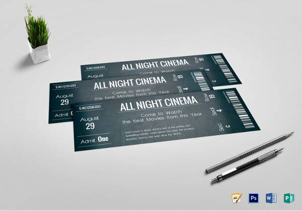 psd editable chalkboard tickets template1