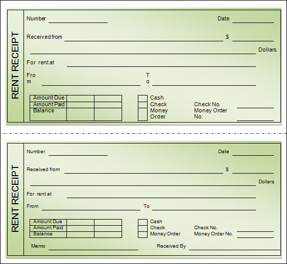 word rent receipt template
