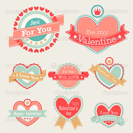 printable valentines labels