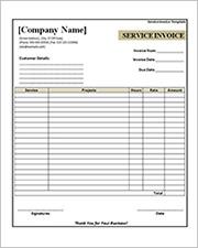 printable service invoice template2
