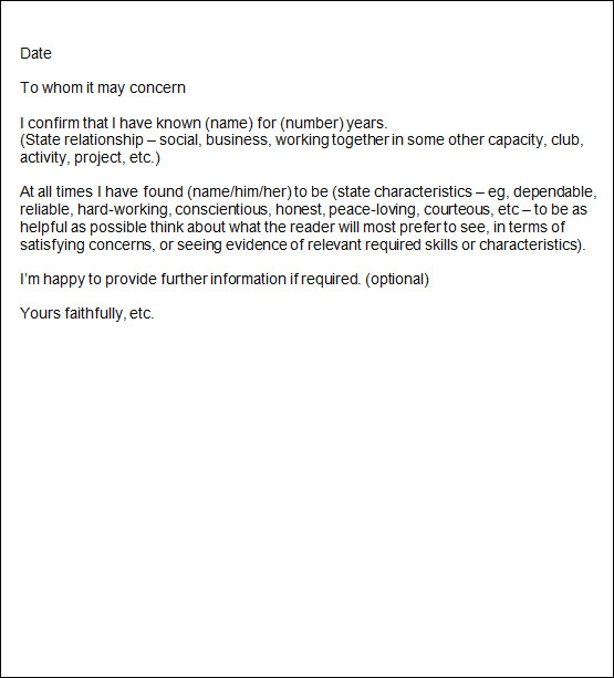 Lovely Sample Reference Letter Examples
