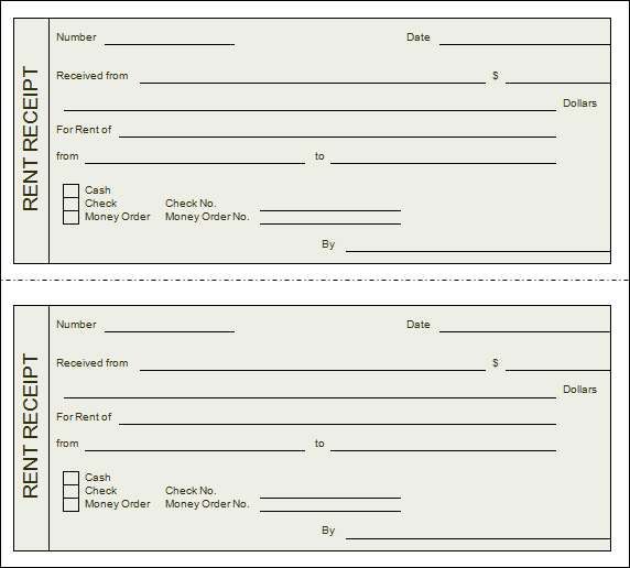 Doc480623 Rent Receipt Form Rent Receipt Template for Excel – Rent Receipt