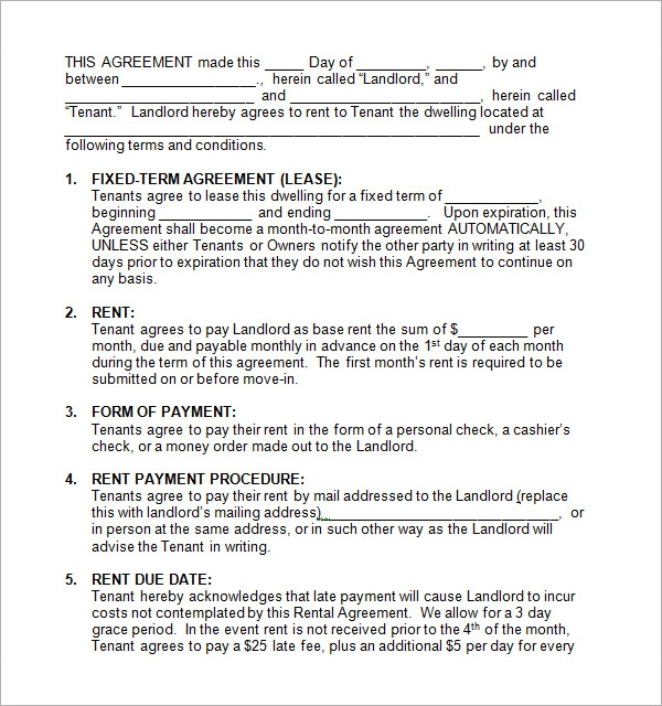 rental contract template1