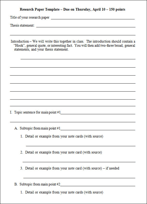 adhd research paper outline 2006-12-7  sample outline for term papers outlining a term paper helps you organize, prioritize, and ultimately, create a polished piece.