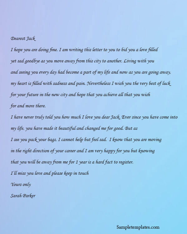love letter template examples